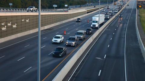 Highway 35 traffic in Flower Mound, Texas Footage