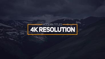Modern Titles 4k After Effects Templates