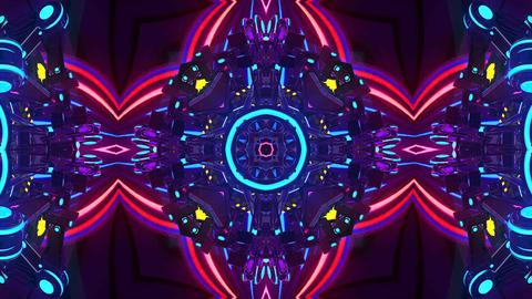 4k-Kaleidoscope Rainbow Motion Background Animation