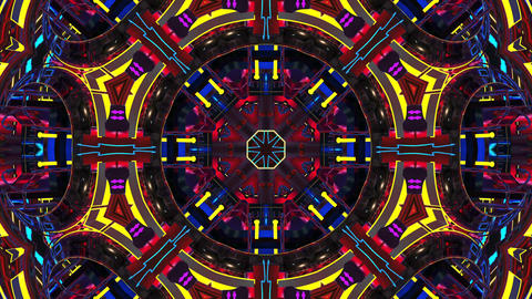 4k Colorful Kaleidoscope Animation