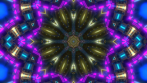 4k-glass kaleidoscope pattern Animation
