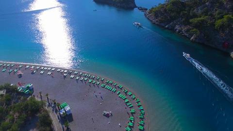 Oludeniz Turkey Aerial Views Footage