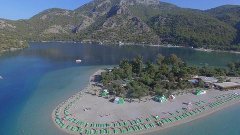 Oludeniz Turkey Aerial View Morning Time Footage