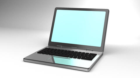 Laptop On White Background CG動画