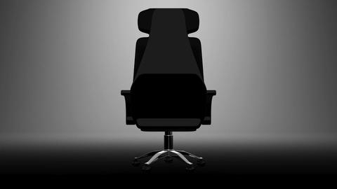 Business Chair On White Background Stock Video Footage