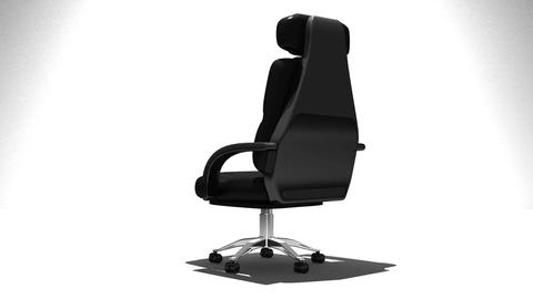 Business Chair On White Background Animation