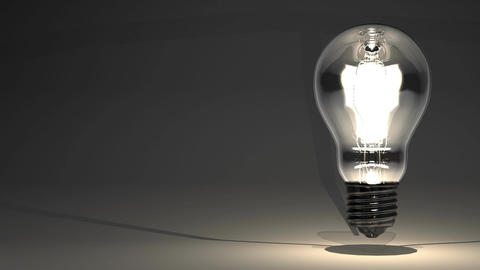 Electric Bulb On Black Text Space CG動画