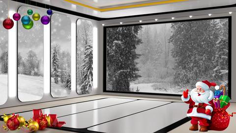 Christmas TV Studio Set 25 Virtual Background Loop ライブ動画