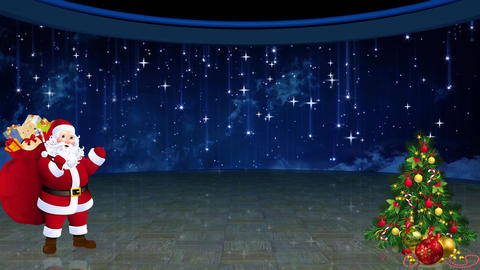 Christmas TV Studio Set 27 - Virtual Green Screen Background Loop Filmmaterial