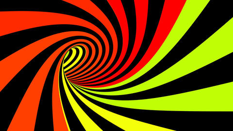 Hypnotic spiral illusion seamless looping Animation