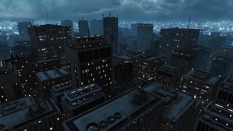 Night City Blue Fog Animation