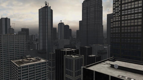 Skyscraper City Scape Animation