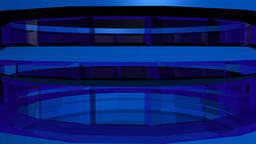 Abstract transparent tower blue. 3d rendering Animation