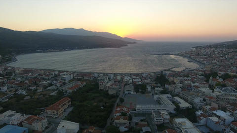 The Capital of Samos Island in Greece during Nightfall 1 ビデオ