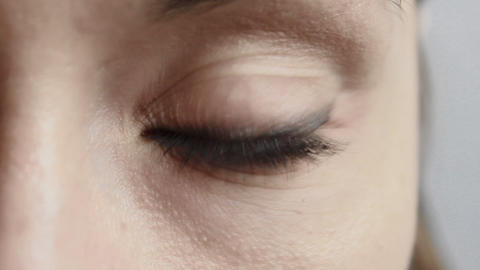 1080p Ungraded: Woman Eye Close-Up Footage