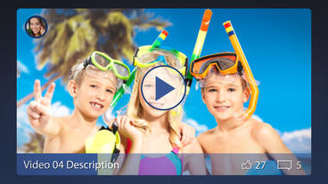 Facebook Slideshow - Apple Motion and Final Cut Pro X Template Plantilla de Apple Motion