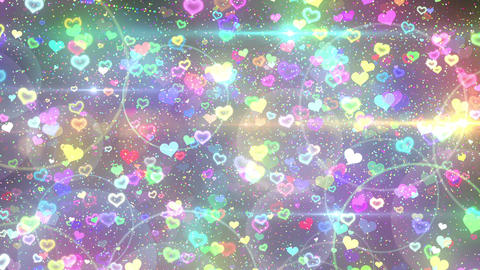 Rebound particle heart rbw CG動画