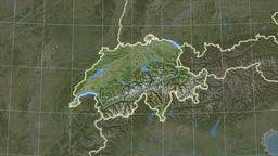 Switzerland and neighborhood. Satellite Animation