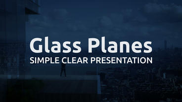 Simple Clear Corporate Slideshow with Modular Structure | Glass Planes After Effects Template