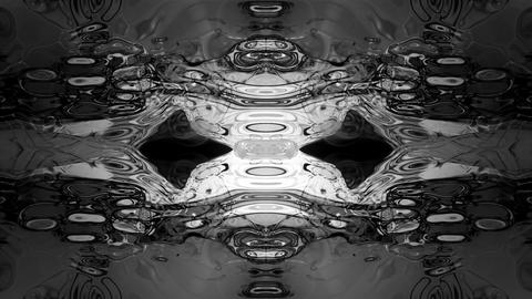 Abstract rorschach imagery forms and flows loop Footage