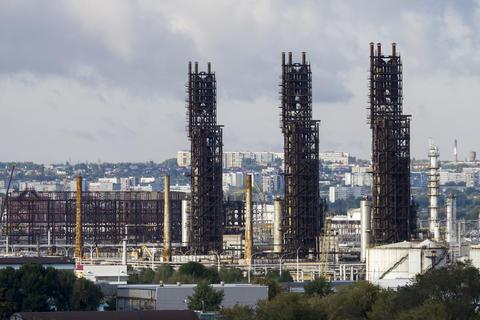 oil refinery units Fotografía