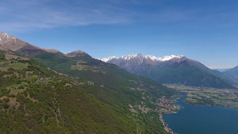 Aerial panorama on Como lake in Italy Footage