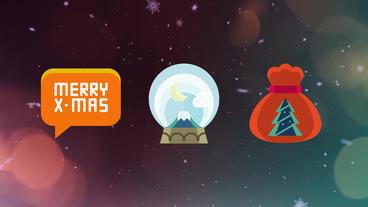 50 Christmas Icons 애프터 이펙트 템플릿