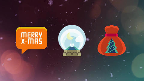 50 Christmas Icons After Effects Template