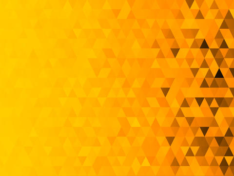 Low polygon mosaic graphic background with yellow theme (Halloween theme) フォト