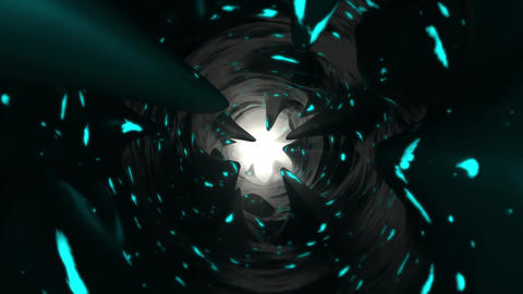 Halloween Hell Tunnel Loop 02 - BlueGreen Animation