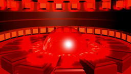 Abstract circular background red black with glows. 3d rendering Animation