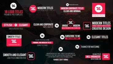 16 Logo Titles Premiere Pro Template