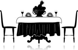 Restaurant little table ベクター