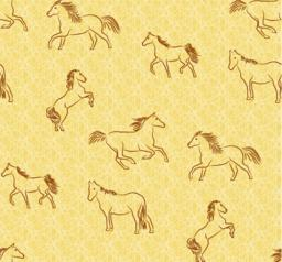 Seamless background with stylized horses Vector