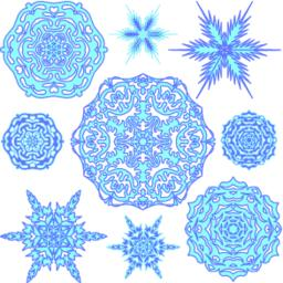 Set of snowflakes ベクター