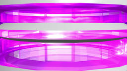 Abstract transparent tower purple white. 3d rendering Animation
