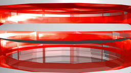 Abstract transparent tower red white. 3d rendering Animation