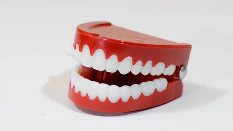 Funny False Teeth Footage