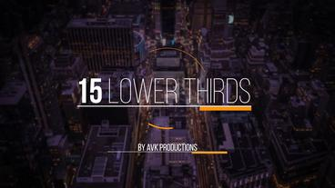 15 Lower Thirds Pack | 4k 60FPS After Effectsテンプレート