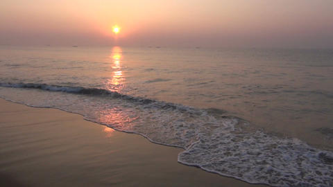 sunrise morning on South Indian ocean beach Footage