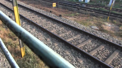 indian railway in motion, South India Live Action
