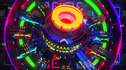 VJ Cosmic Multicolor Abstract2 Animation