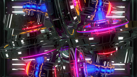 Retro VJ abstract multicolored animated13 Animation