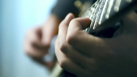 Guitarists Playing On Guitar Footage