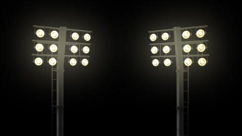 Stadium floodlights with alpha channel Image