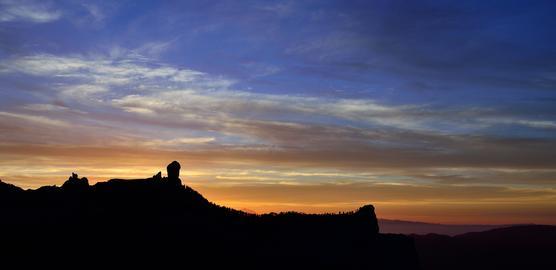 Sunset, natural park of Roque Nublo フォト