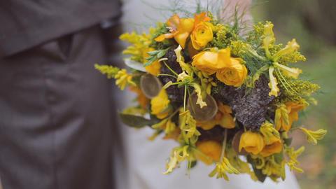 Eco forest wedding bridal bouquet Footage