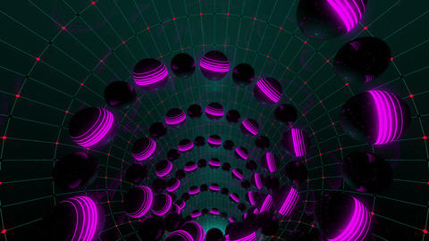 Neon Spheres VJ Loop 2 Animation