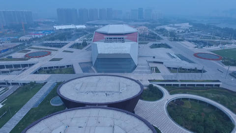 Aerial of Chinese Modern Architecture Footage