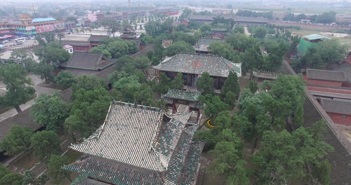 Aerial of Chinese ancient architecture Footage